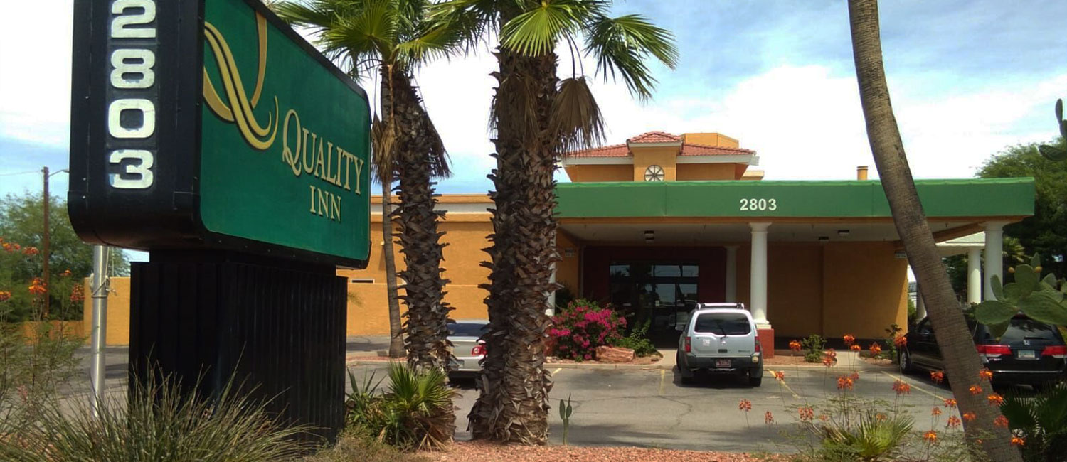 QUALITY INN TUCSON AIRPORT OFFERS A FREE AIRPORT SHUTTLE